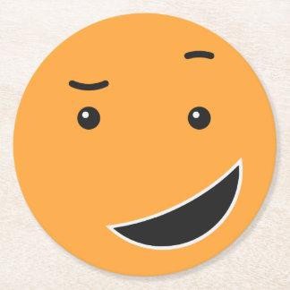 Dessous de verre de papier souriants mignons 9/9 dessous-de-verre rond en papier