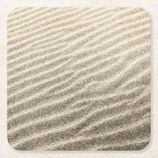Dessous de verre de sable dessous-de-verre carré en papier