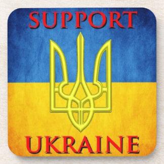 Dessous de verre de Tryzub d'Ukrainien de soutien