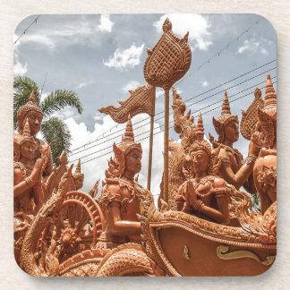 Dessous de verre de voyage de festival de bougie