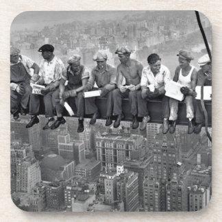 Dessous-de-verre Déjeuner sur un gratte-ciel
