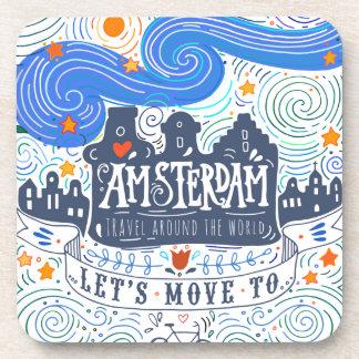 Dessous-de-verre Déplaçons-nous à Amsterdam