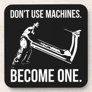Dessous-de-verre Deviennent une machine - bande dessinée, homme