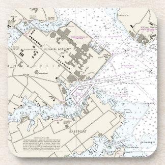 Dessous-de-verre Diagramme de port d'Annapolis