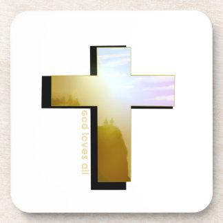Dessous-de-verre Dieu aime toute la croix