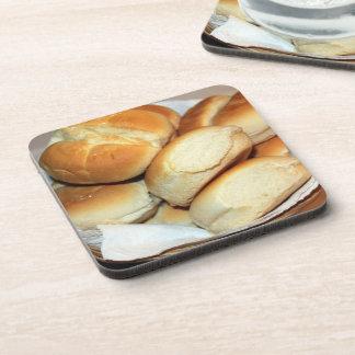 Dessous-de-verre Dîner blanc Rolls dans un panier de pain