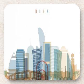 Dessous-de-verre Doha, horizon de ville du Qatar  