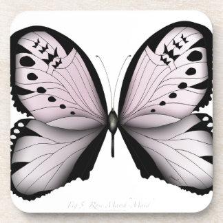Dessous-de-verre Domestique rose de marais de papillon rose