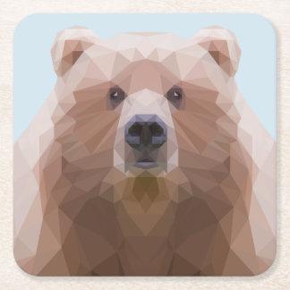 Dessous de verre d'ours dessous-de-verre carré en papier