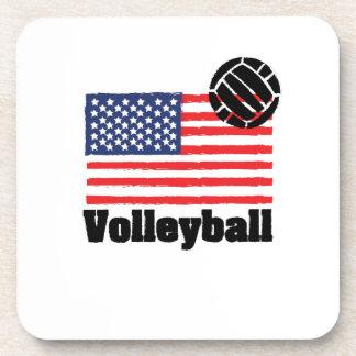 Dessous-de-verre Drapeau Etats-Unis - femmes de volleyball d'hommes
