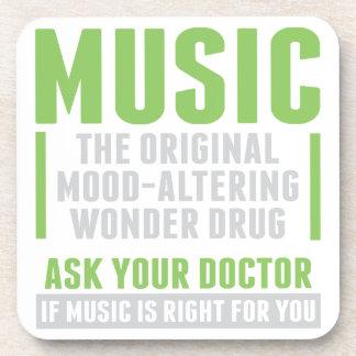 Dessous-de-verre Drogue de merveille de musique