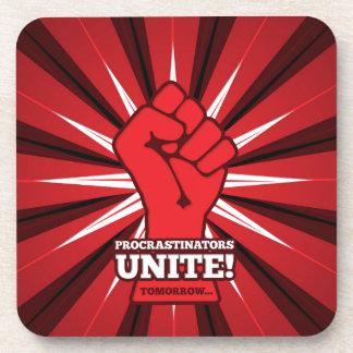 Dessous-de-verre Drôle : Les Procrastinators unissent ! (Demain)