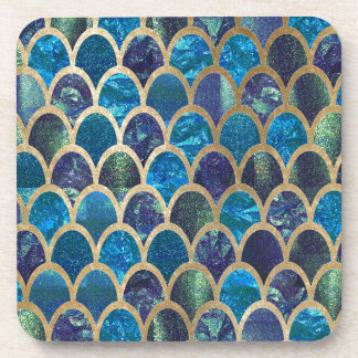 Dessous-de-verre Échelles turquoises de sirène