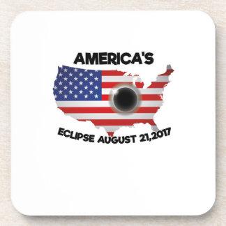 Dessous-de-verre Éclipse solaire totale de l'ÉCLIPSE 08-21-2017 de