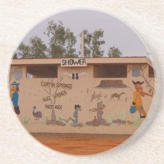 Dessous De Verre En Grès À l'intérieur bloc de toilette, Australie