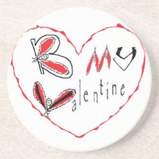 Dessous De Verre En Grès Abeille mon valentine