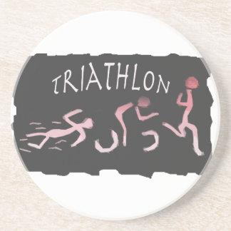 Dessous De Verre En Grès Abrégé sur course de vélo de bain de triathlon