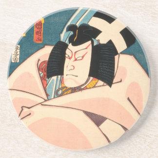 Dessous De Verre En Grès Acteur japonais (#10) (copie vintage de Japonais)