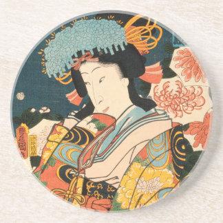 Dessous De Verre En Grès Acteur japonais (#2) (copie vintage de Japonais)
