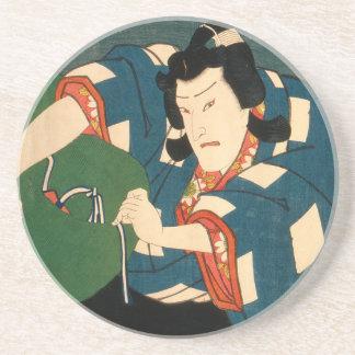 Dessous De Verre En Grès Acteur japonais (#5) (copie vintage de Japonais)