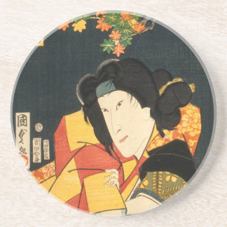 Dessous De Verre En Grès Acteur japonais (#6) (copie vintage de Japonais)