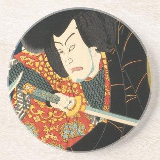 Dessous De Verre En Grès Acteur japonais (#7) (copie vintage de Japonais)