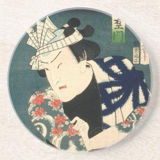 Dessous De Verre En Grès Acteur japonais (#8) (copie vintage de Japonais)