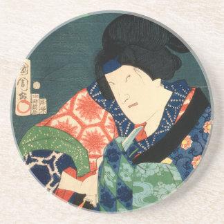 Dessous De Verre En Grès Acteur japonais (#9) (copie vintage de Japonais)