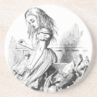 Dessous De Verre En Grès Alice et une boîte d'animaux