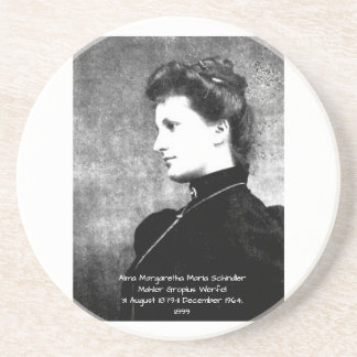 Dessous De Verre En Grès Alma Margaretha Maria Schindler Mahler Gropius Wer