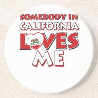 Dessous De Verre En Grès amour de la Californie