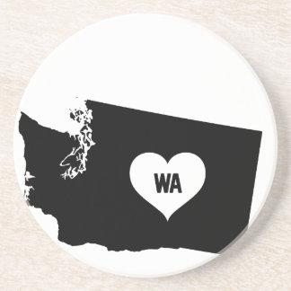 Dessous De Verre En Grès Amour de Washington