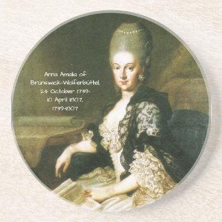 Dessous De Verre En Grès Anna Amalia de Brunswick-Wolfenbuttel 1739-1807