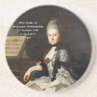 Dessous De Verre En Grès Anna Amalia de Brunswick-Wolfenbuttel 1769