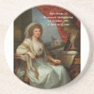 Dessous De Verre En Grès Anna Amalia de Brunswick-Wolfenbuttel 1788