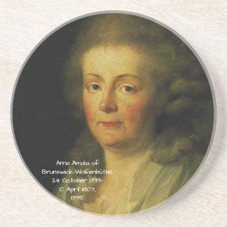Dessous De Verre En Grès Anna Amalia de Brunswick-Wolfenbuttel 1795