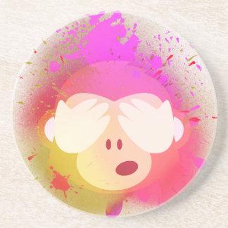 Dessous De Verre En Grès Art créatif superbe de peinture de jet d'Emoji de