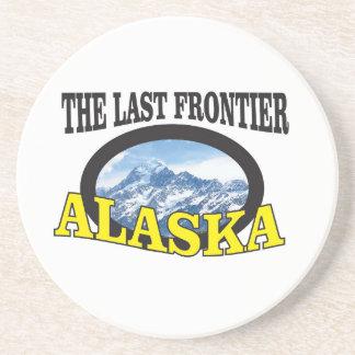 Dessous De Verre En Grès art de logo de l'Alaska