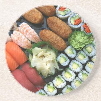Dessous De Verre En Grès Assortiment des favoris japonais de sushi