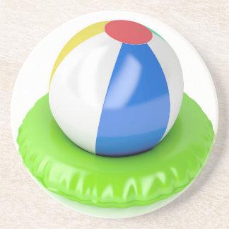 Dessous De Verre En Grès Ballon de plage et anneau de bain