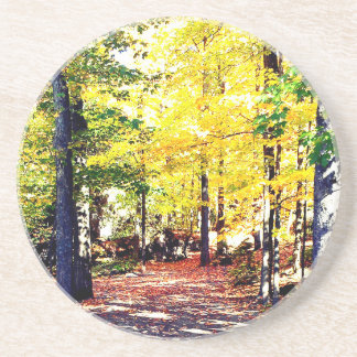 Dessous De Verre En Grès Beau chemin d'automne