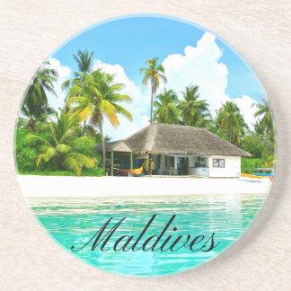 Dessous De Verre En Grès Beau paysage des Maldives