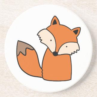 Dessous De Verre En Grès Beau renard rouge