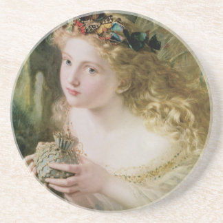 Dessous De Verre En Grès Beaux papillons féeriques, art victorien vintage