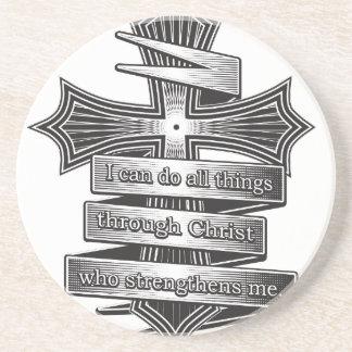 Dessous De Verre En Grès Bible de chrétien de 4h13 de Philippiens d'édition