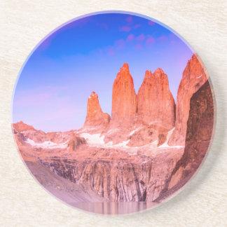 Dessous De Verre En Grès Boisson Coaster Torres del Paine de grès