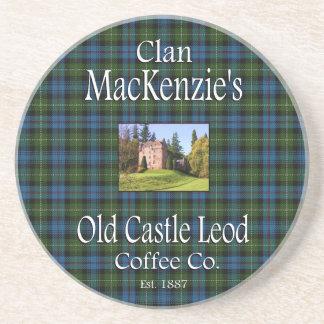 Dessous De Verre En Grès Café Cie. de Leod du château du Mackenzie de clan