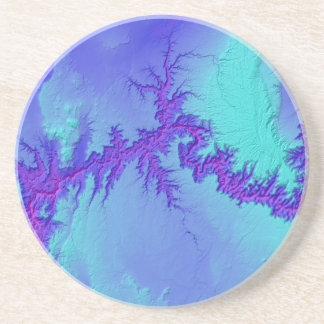 Dessous De Verre En Grès Canyon grand de style lumineux de nébuleuse de