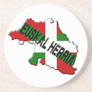 Dessous De Verre En Grès Carte pays basque plus drapeau euskal herria