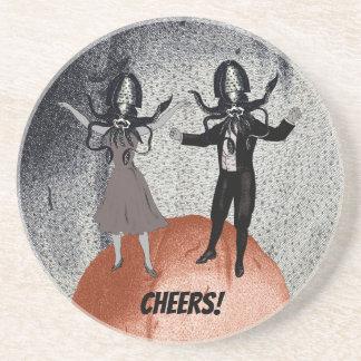Dessous De Verre En Grès Célébration de danse d'aliens